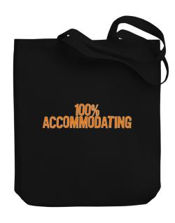 100% Accommodating Canvas Tote Bag