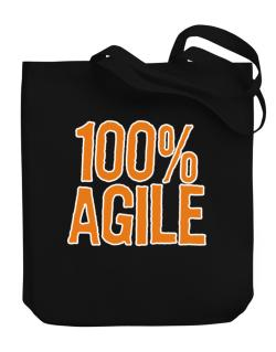 100% Agile Canvas Tote Bag