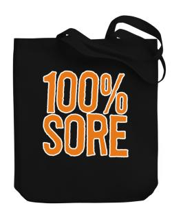 100% Sore Canvas Tote Bag