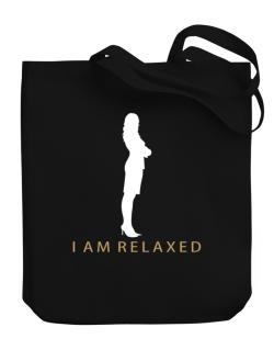 I Am Relaxed - Female Canvas Tote Bag
