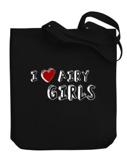I Love Airy Girls Canvas Tote Bag