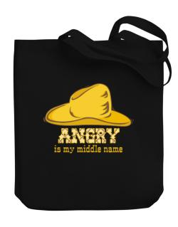 Angry Is My Middle Name Canvas Tote Bag