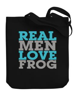 Real Men Love Frog Canvas Tote Bag