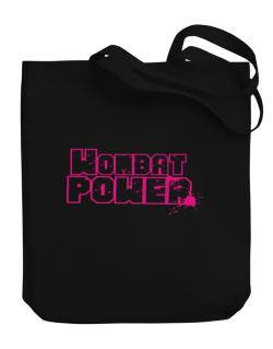 Wombat Power Canvas Tote Bag
