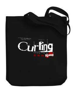 Curling Is In My Blood Canvas Tote Bag
