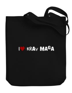 Krav Maga I Love Krav Maga Urban Style Canvas Tote Bag