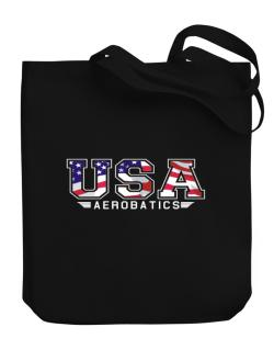 Usa Aerobatics / Flag Clip - Army Canvas Tote Bag