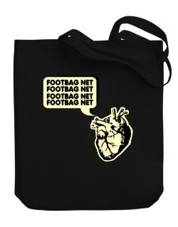 Footbag Net Heart Canvas Tote Bag