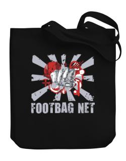 Footbag Net Fist Canvas Tote Bag