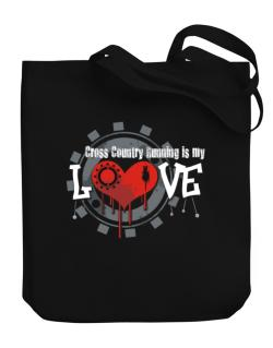 Cross Country Running Is My Love Canvas Tote Bag