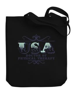 Usa Doctor Of Physical Therapy Canvas Tote Bag