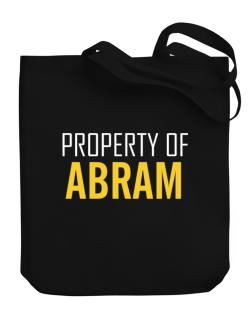 Property Of Abram Canvas Tote Bag
