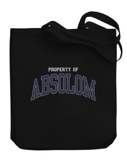 Property Of Absolom Canvas Tote Bag