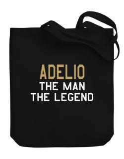 Adelio The Man The Legend Canvas Tote Bag