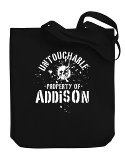 Untouchable : Property Of Addison Canvas Tote Bag