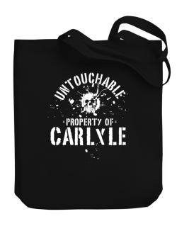 Untouchable : Property Of Carlyle Canvas Tote Bag