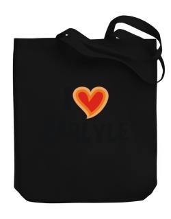 I Love Carlyle Canvas Tote Bag
