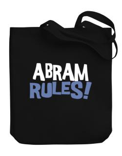 Abram Rules! Canvas Tote Bag
