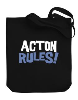 Acton Rules! Canvas Tote Bag