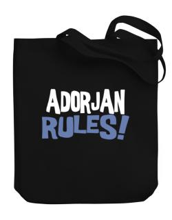 Adorjan Rules! Canvas Tote Bag