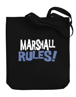 Marshall Rules! Canvas Tote Bag