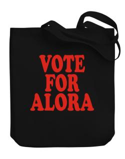 Vote For Alora Canvas Tote Bag