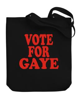 Vote For Gaye Canvas Tote Bag