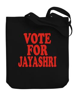 Vote For Jayashri Canvas Tote Bag