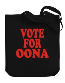 Vote For Oona Canvas Tote Bag