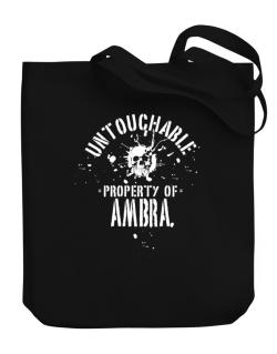 Untouchable Property Of Ambra - Skull Canvas Tote Bag