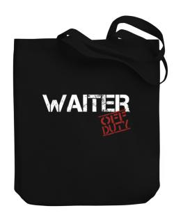Waiter - Off Duty Canvas Tote Bag