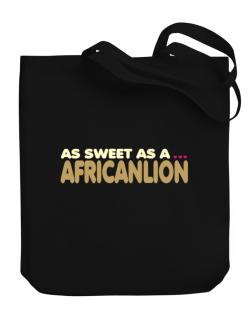 As Sweet As An African Lion Canvas Tote Bag