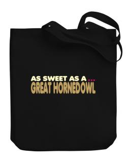 As Sweet As A Great Horned Owl Canvas Tote Bag