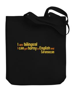 I Am Bilingual, I Can Get Horny In English And Saramaccan Canvas Tote Bag