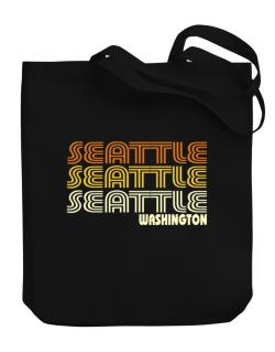 Seattle State Canvas Tote Bag