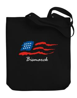 Bismarck - Us Flag Canvas Tote Bag