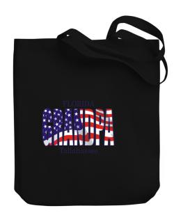 Grandpa Tallahassee - Us Flag Canvas Tote Bag