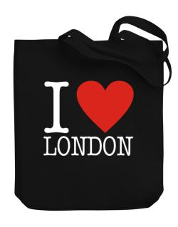 I Love London Classic Canvas Tote Bag