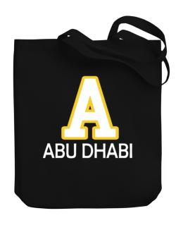 """ Abu Dhabi - Initial "" Canvas Tote Bag"