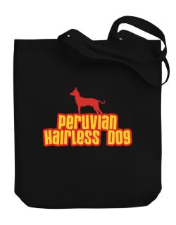 Breed Color Peruvian Hairless Dog Canvas Tote Bag