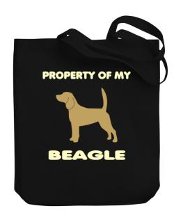 Property Of My Beagle Canvas Tote Bag