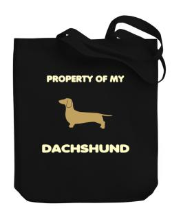 Property Of My Dachshund Canvas Tote Bag