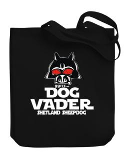 Dog Vader : Shetland Sheepdog Canvas Tote Bag