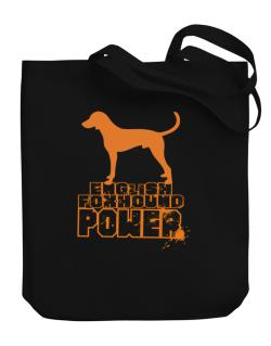 English Foxhound Power Canvas Tote Bag