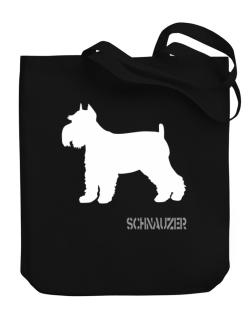 Schnauzer Canvas Tote Bag