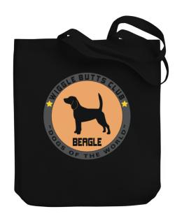 Beagle - Wiggle Butts Club Canvas Tote Bag