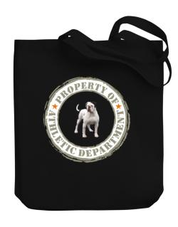 """ PROPERTY OF American Bulldog ATHLETIC DEPARTMENT TRANSFER "" Canvas Tote Bag"