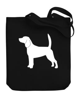 Beagle Silhouette Embroidery Canvas Tote Bag