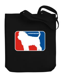 Affenpinscher Sports Logo  Canvas Tote Bag
