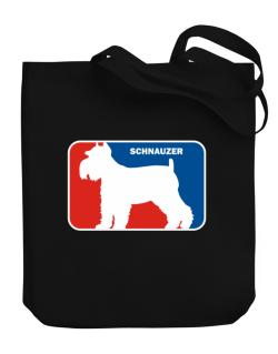 Schnauzer Sports Logo  Canvas Tote Bag